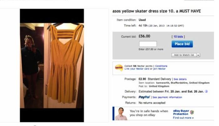 Naked eBay Seller: Woman Posts Photos of Dress, Wearing No